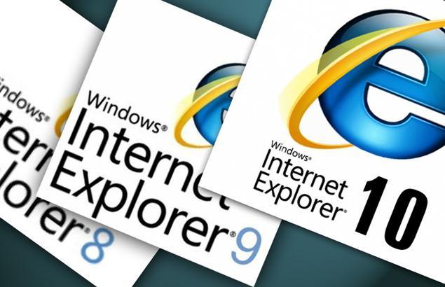 Internet Explorer 8,9,10
